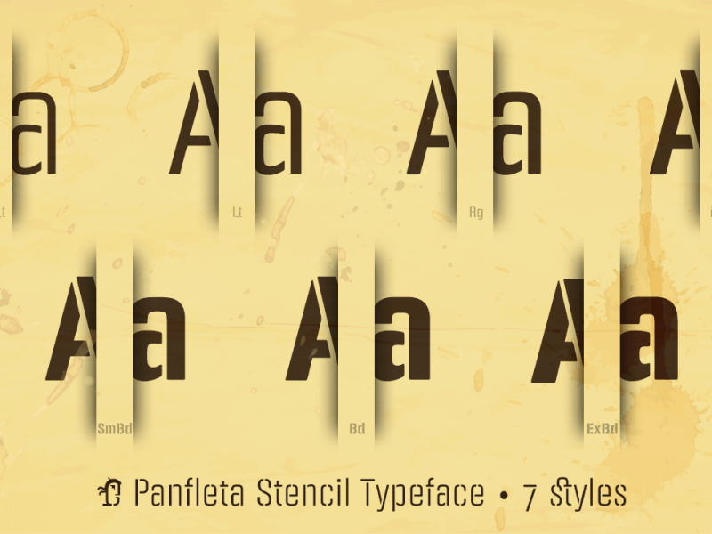 Download PANFLETA STENCIL font (typeface)