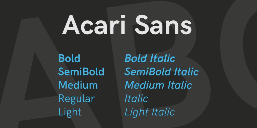 Download Acari font (typeface)