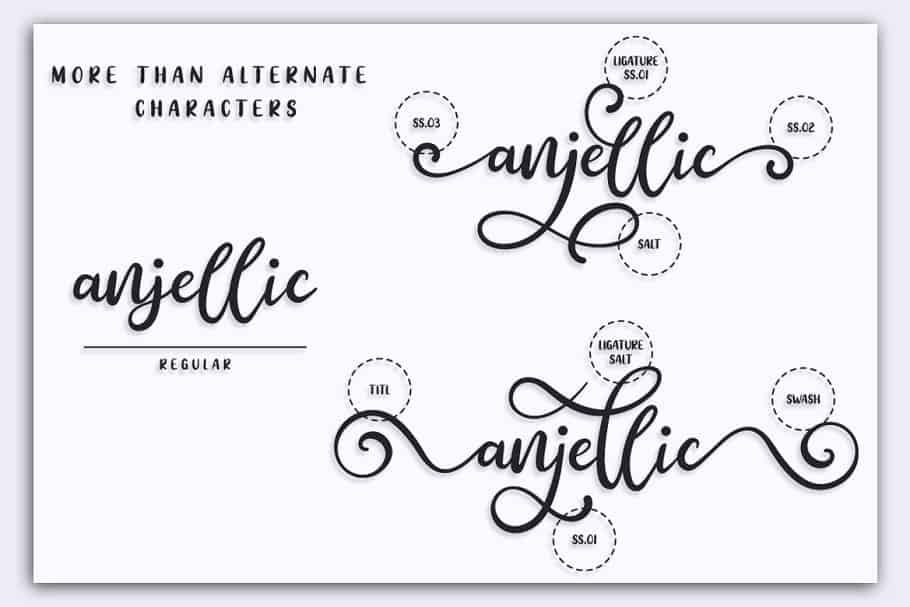 Download Anjellic font (typeface)
