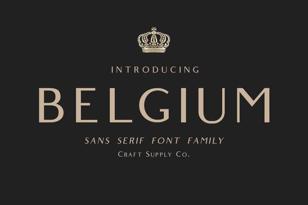 Download Belgium font (typeface)