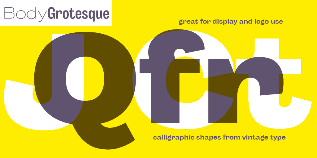 Download Body Grotesque font (typeface)