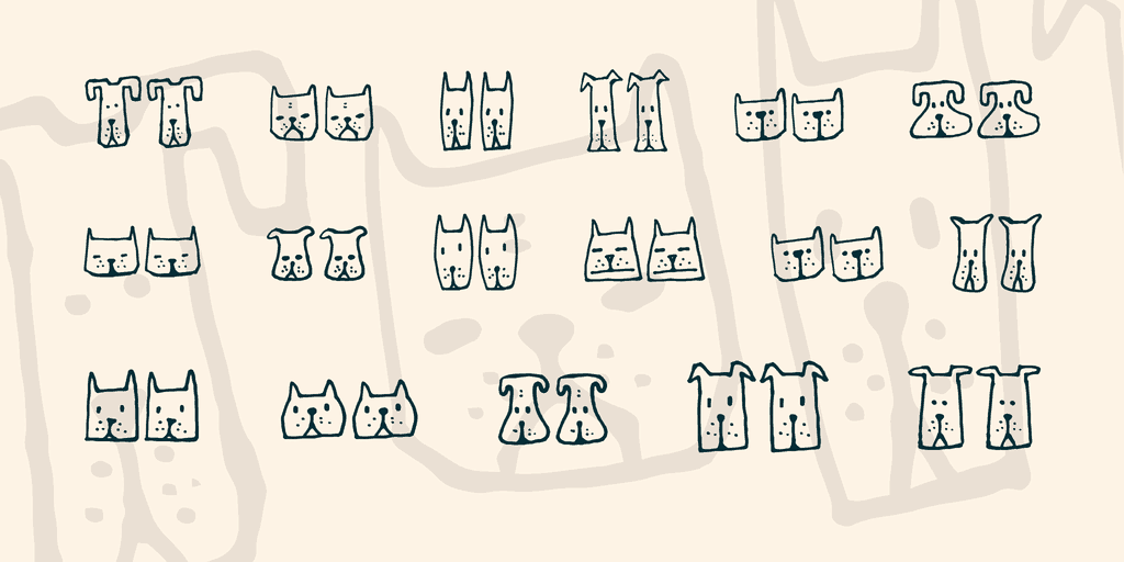Download Cats and Dogs font (typeface)
