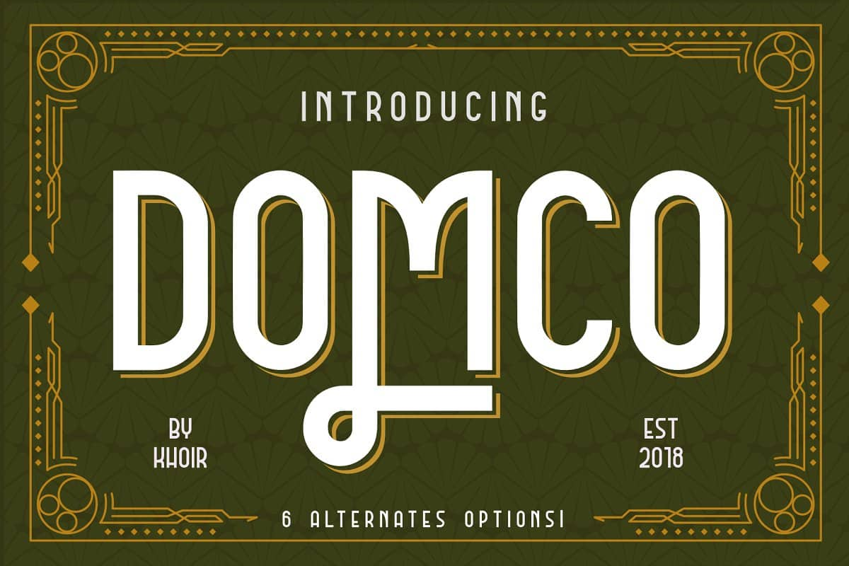 Download DOMCO font (typeface)