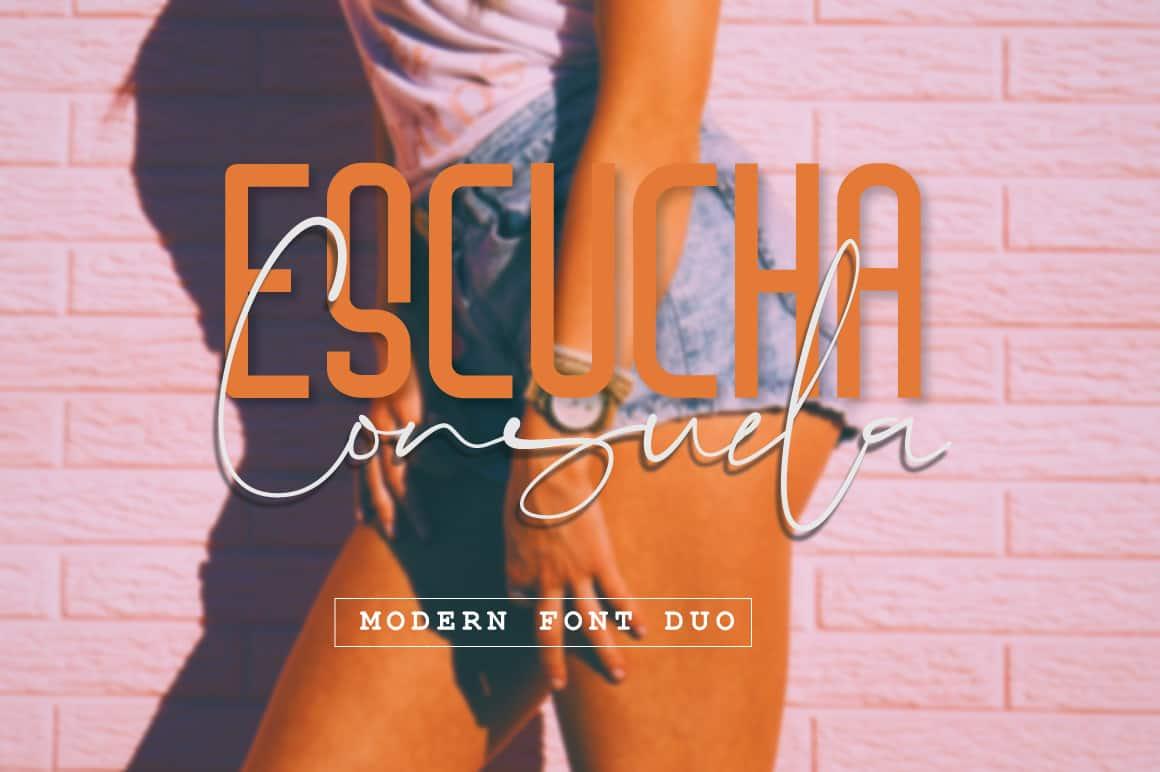 Download Escucha Consuela Font font (typeface)