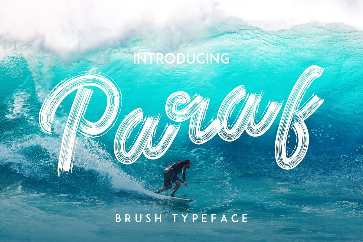 Download Paraf Brush Font font (typeface)