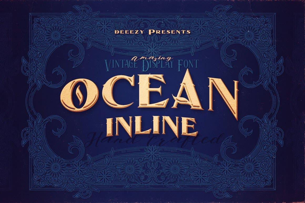 Download Ocean Inline font (typeface)