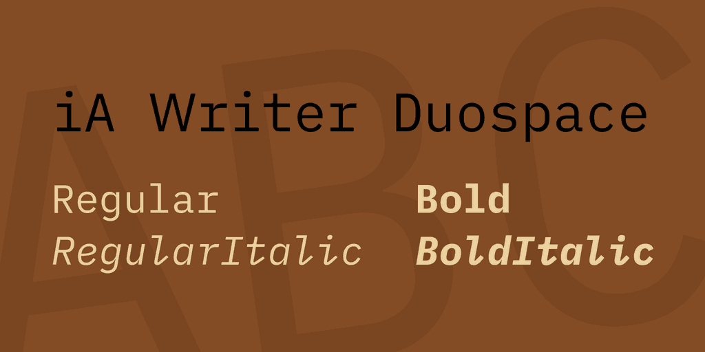 Download iA Writer Duospace font (typeface)
