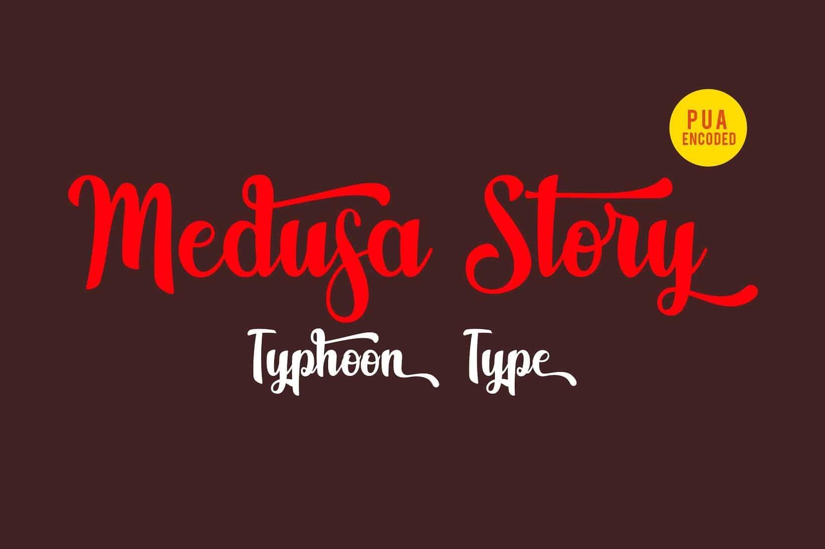 Download Medusa Story font (typeface)