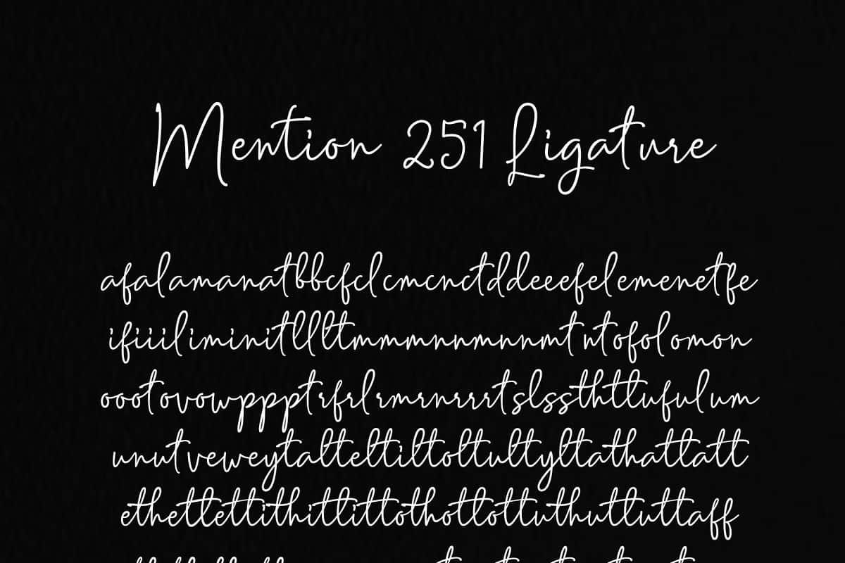 Download Mention font (typeface)