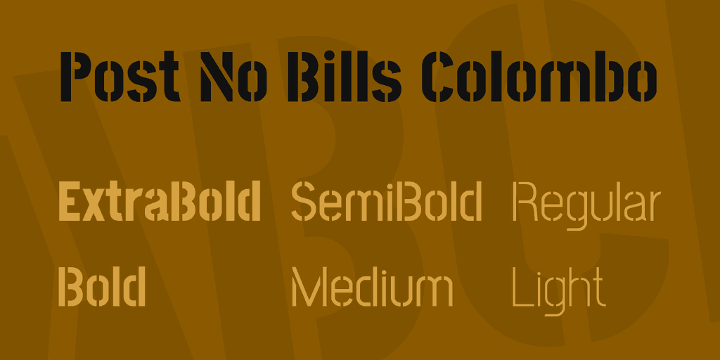 Download Post No Bills Colombo font (typeface)