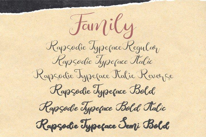 Download Rapsodie font (typeface)