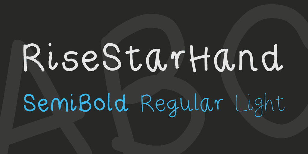 Download Rise Star Hand font (typeface)