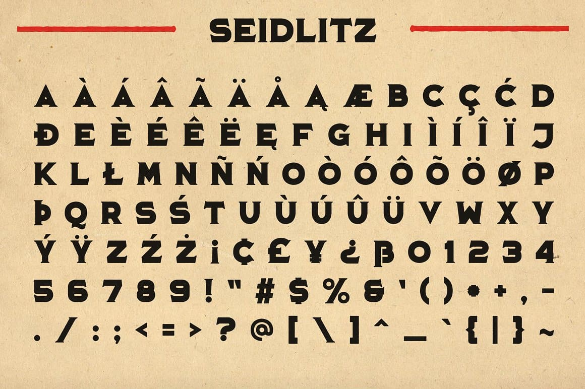 Download Seidlitz font (typeface)