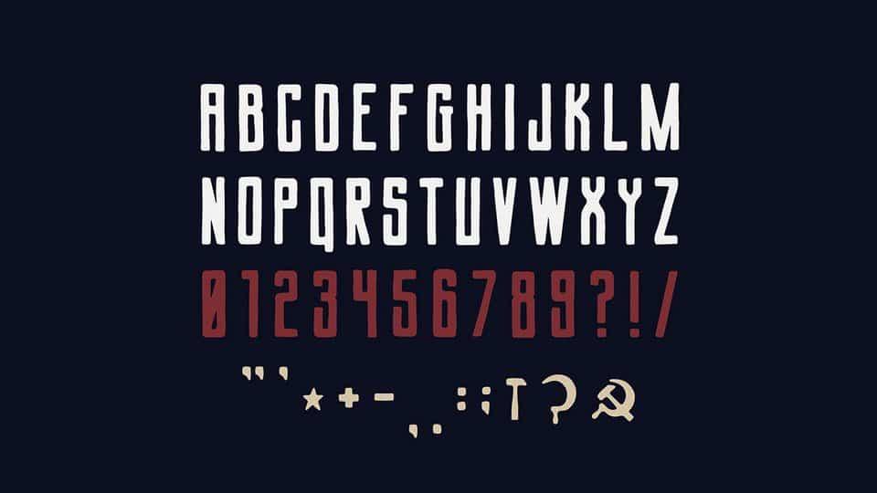 Download Soviet League font (typeface)