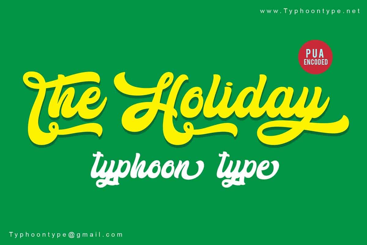 Download The Holiday font (typeface)
