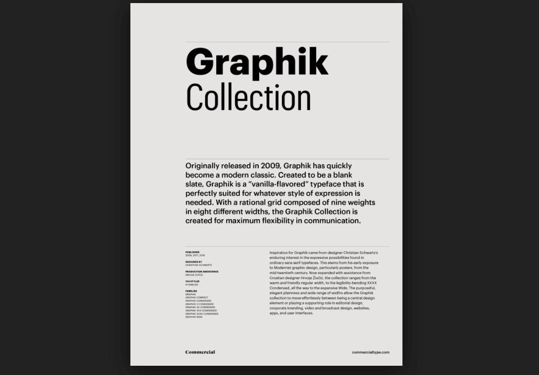 Download Graphik font (typeface)