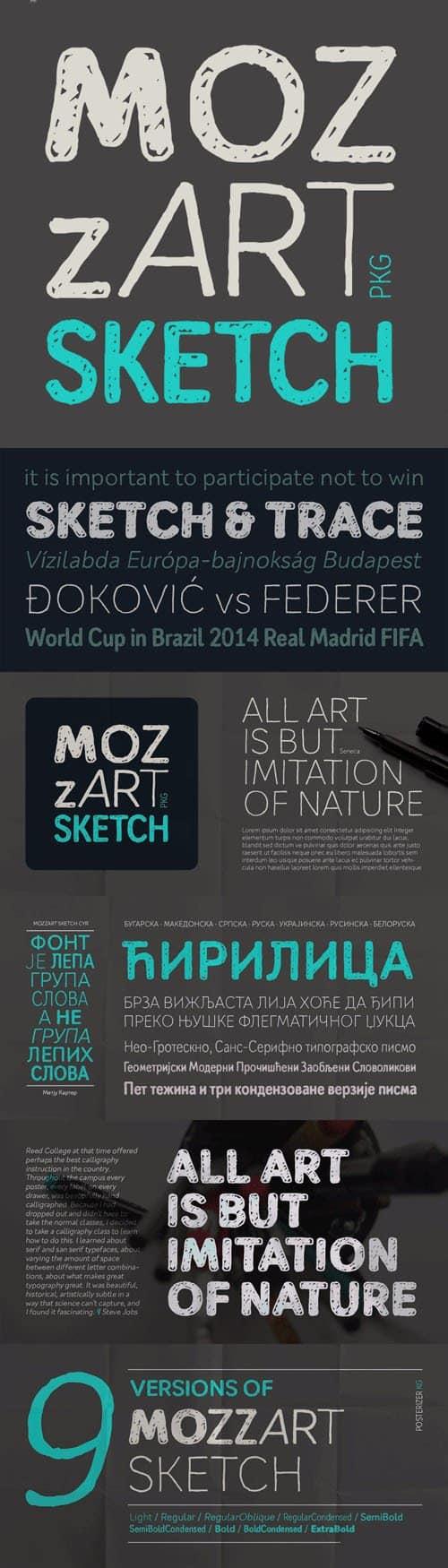 Download Mozzart font (typeface)
