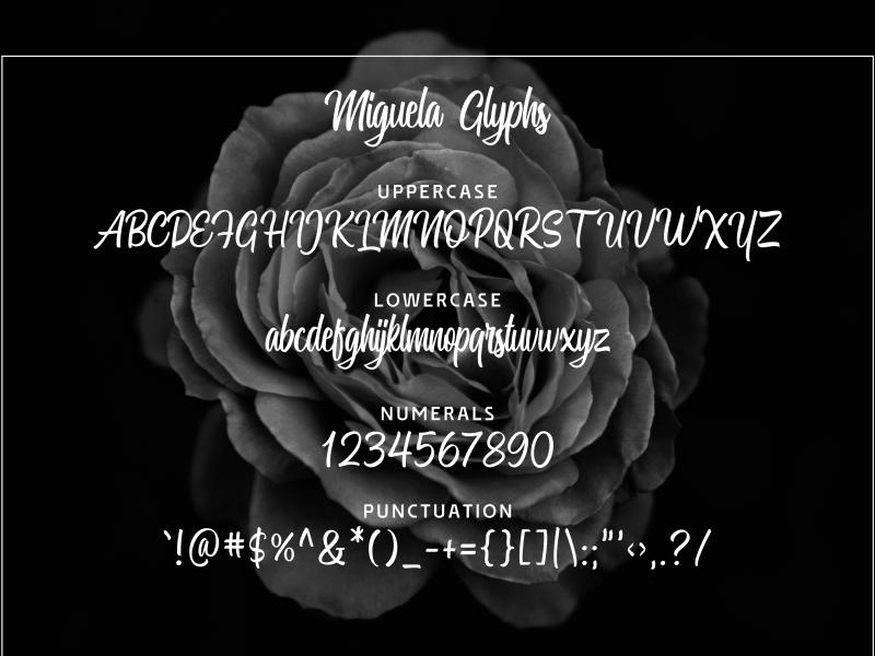 Miguela шрифт скачать бесплатно