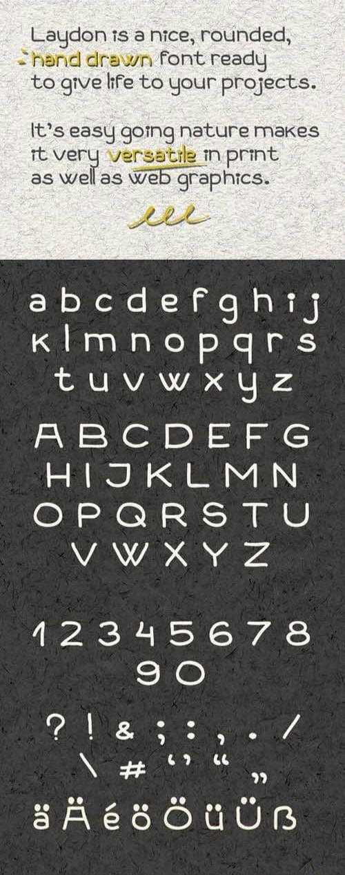 Laydon шрифт скачать бесплатно