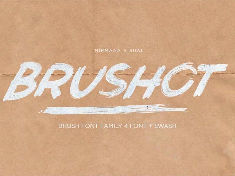 Brushot шрифт скачать бесплатно