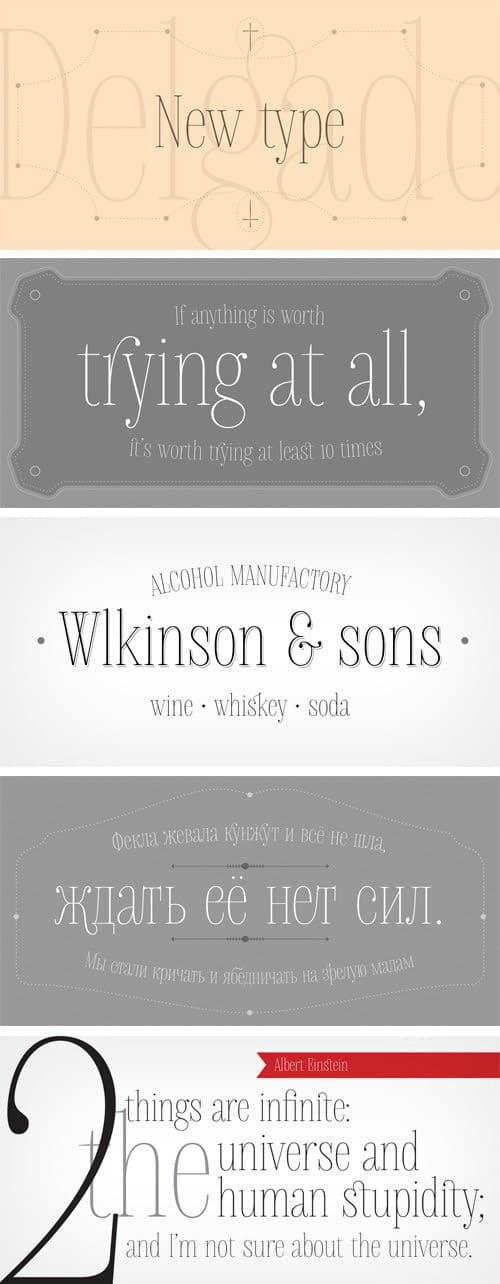 Download Delgado font (typeface)