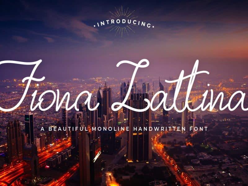 Fiona Lattina шрифт скачать бесплатно