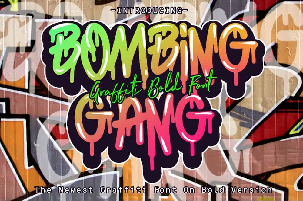 Download BOMBING font (typeface)