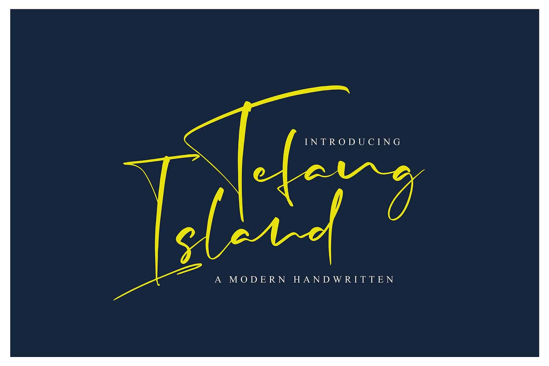 Download Tefang Island font (typeface)