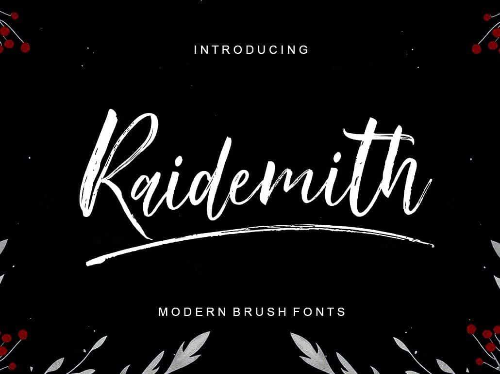 Download Raidemith Swash font (typeface)