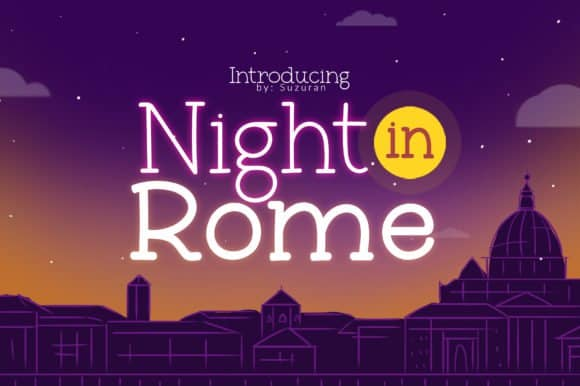 Download Night in Rome font (typeface)