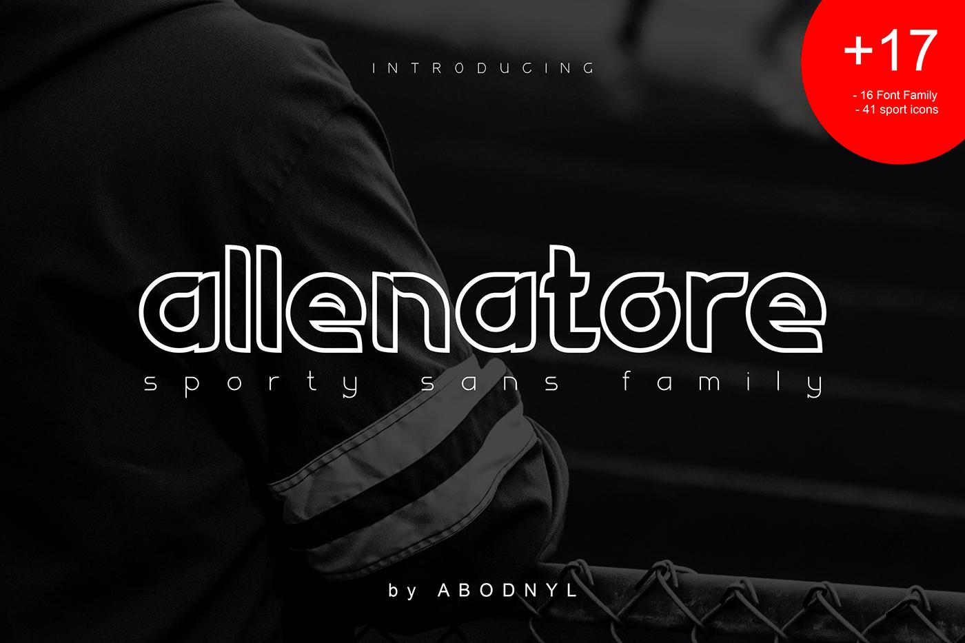 Download Allenatore font (typeface)