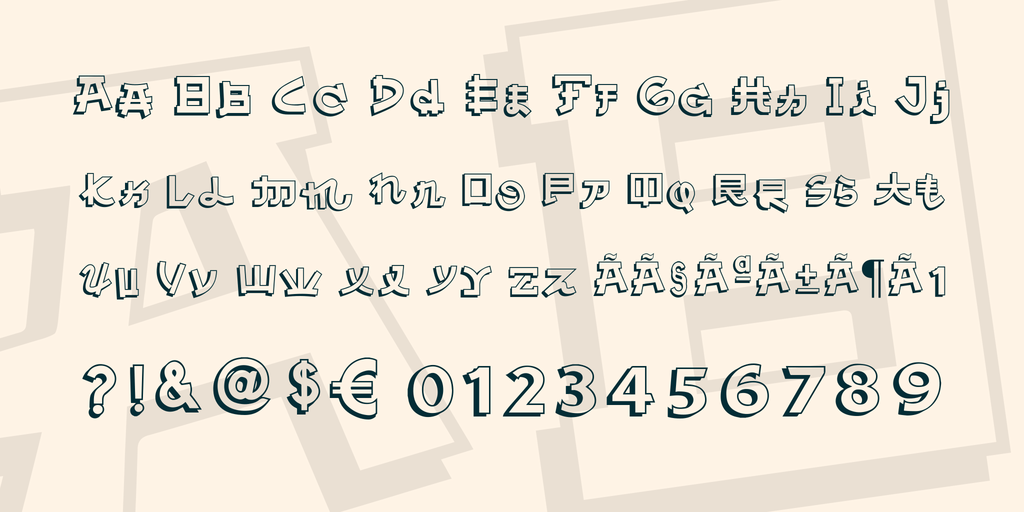 Download Almost Japanese font (typeface)