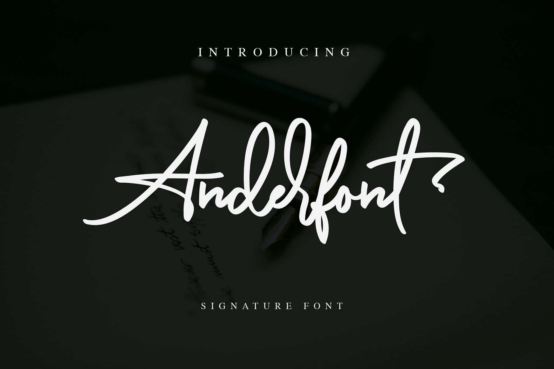 Anderfont шрифт скачать бесплатно