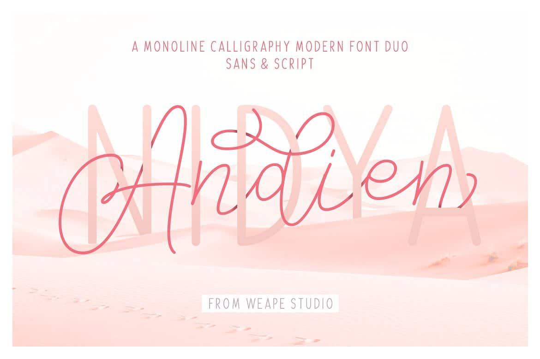 Download Andien Nidya font (typeface)