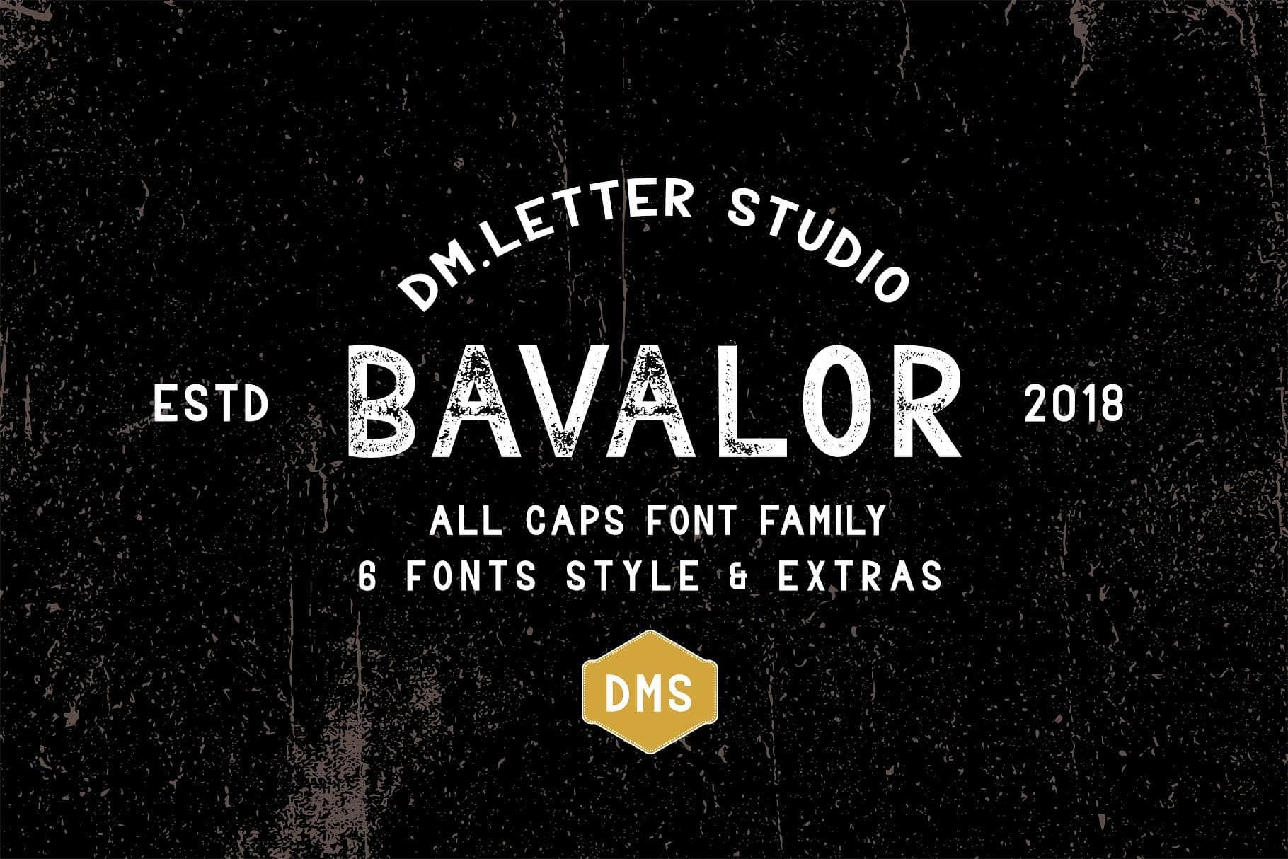 Download Bavalor font (typeface)