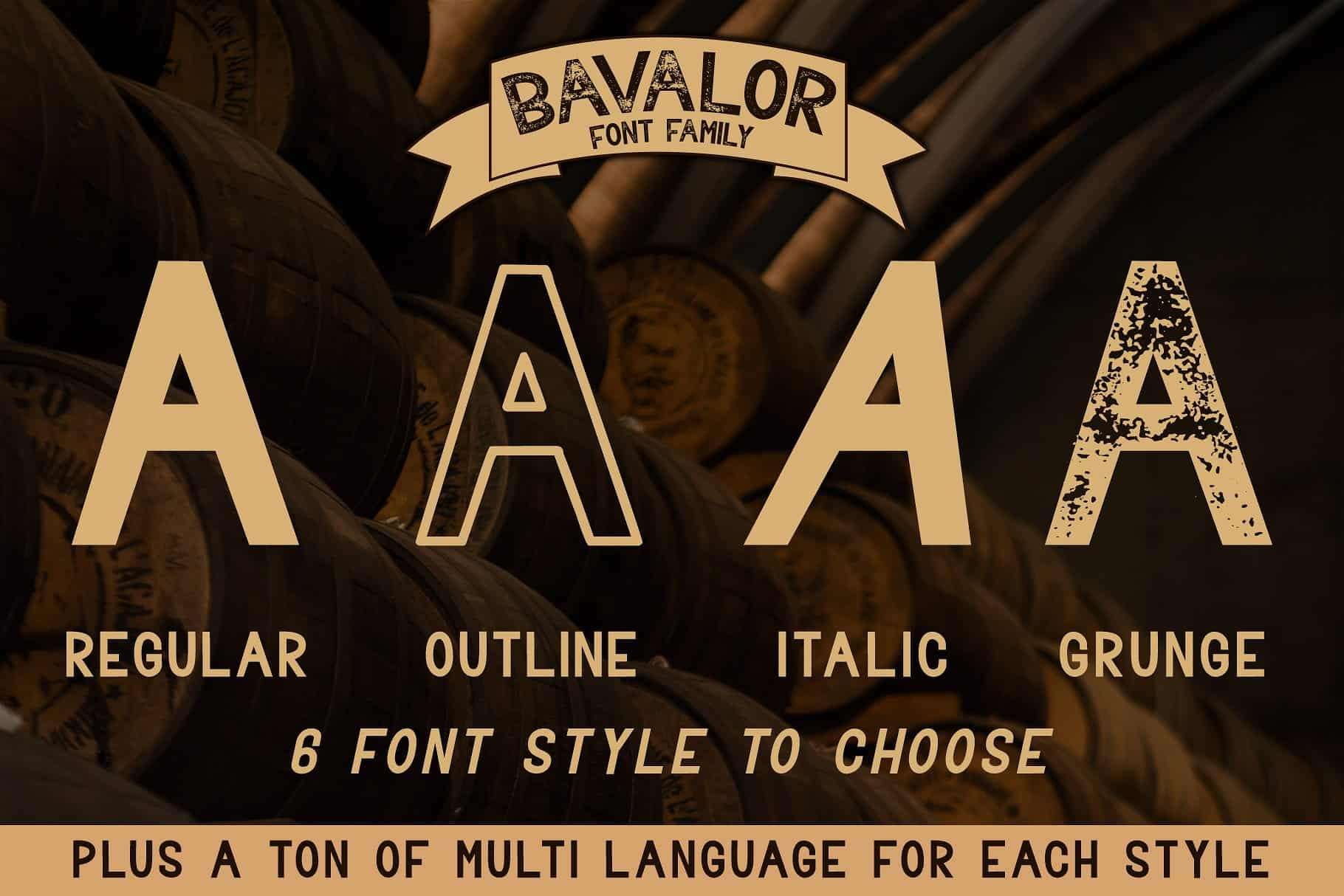 Bavalor шрифт скачать бесплатно