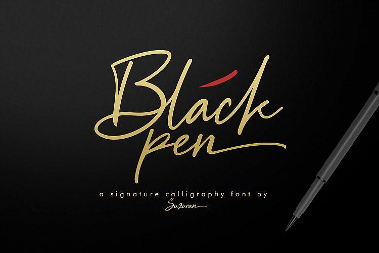 Download Black Pen font (typeface)