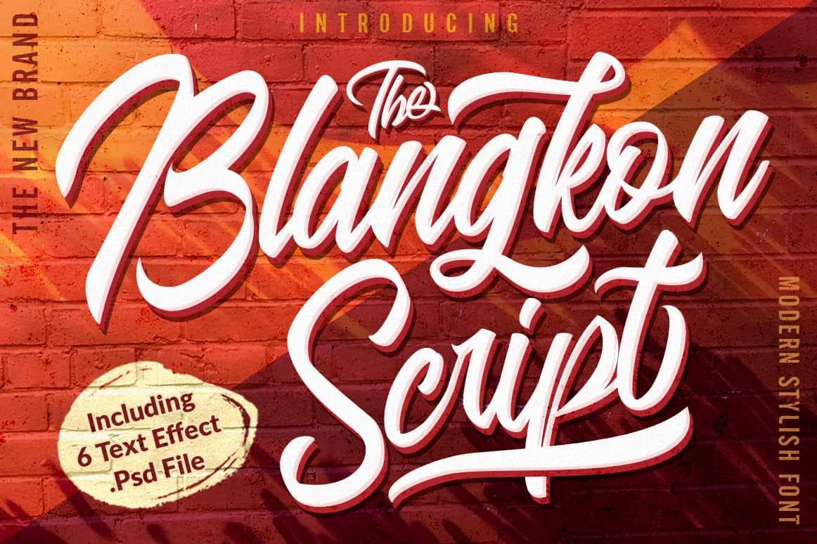 Download Blangkon font (typeface)