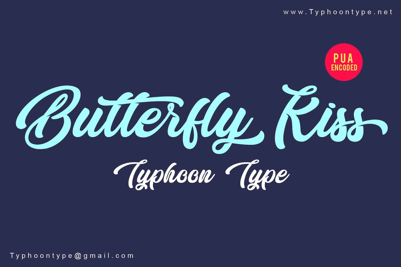 Download Butterfly Kiss font (typeface)