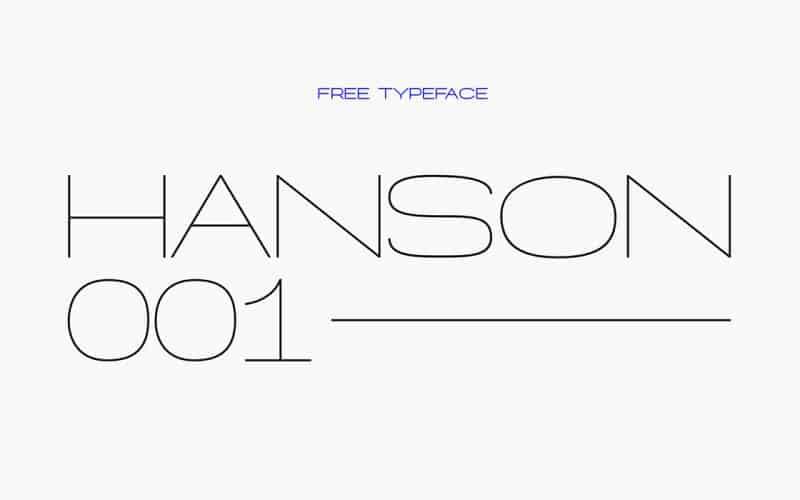 Hanson шрифт скачать бесплатно