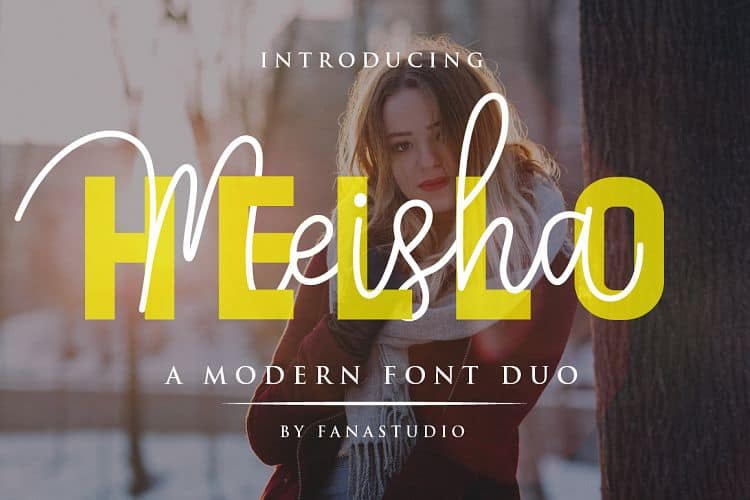 Download Hello Meisha font (typeface)