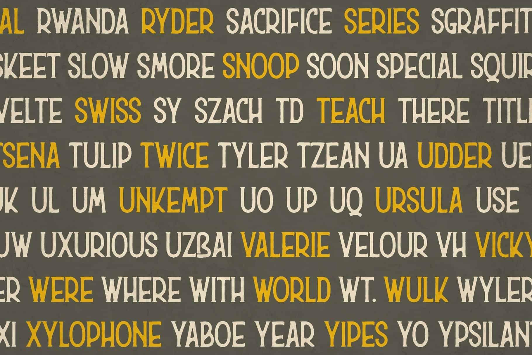 Download Hurson font (typeface)