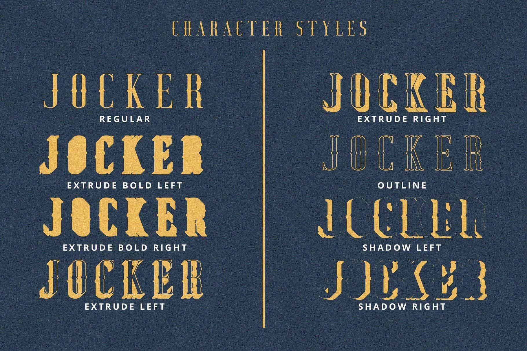 Jocker шрифт скачать бесплатно