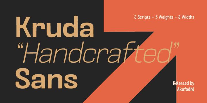 Download Kruda font (typeface)