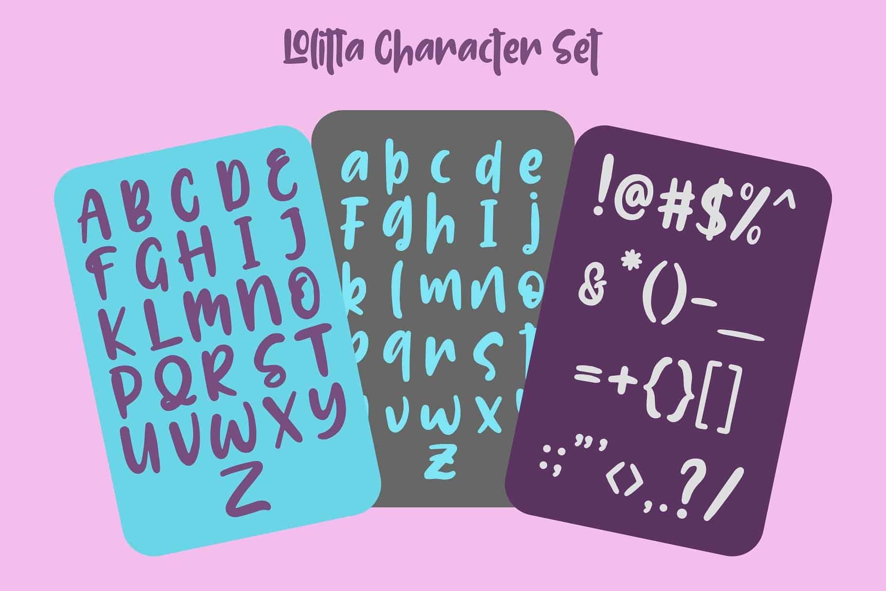 Download Lolitta Fun font (typeface)