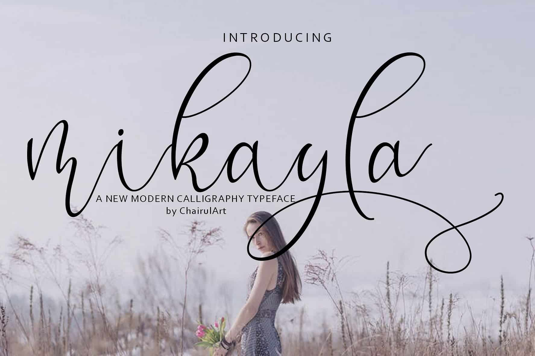 Download Mikayla font (typeface)