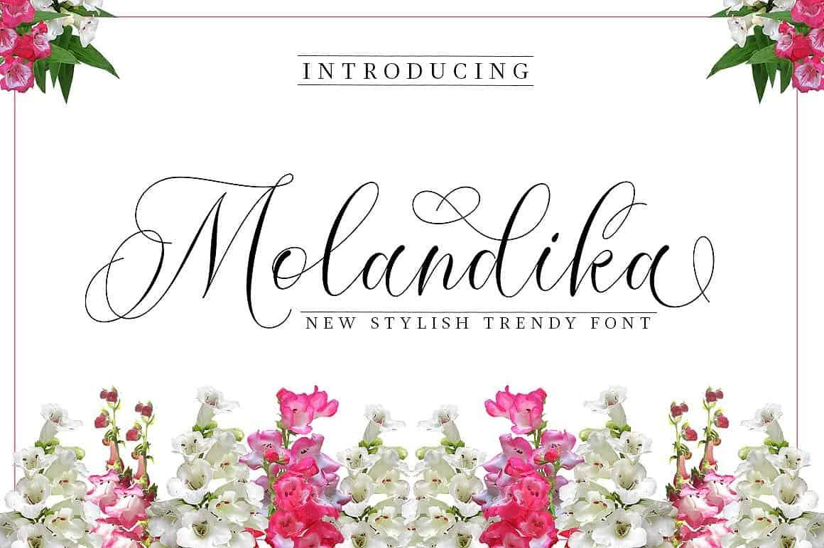 Molandika шрифт скачать бесплатно
