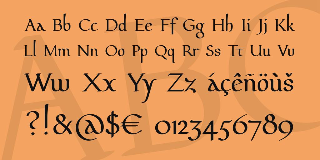 Download Pfeffer Mediæval font (typeface)