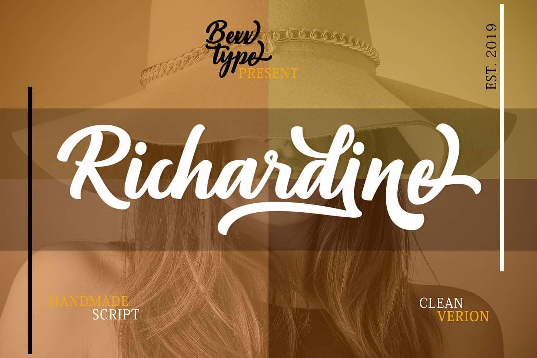 Richardine шрифт скачать бесплатно