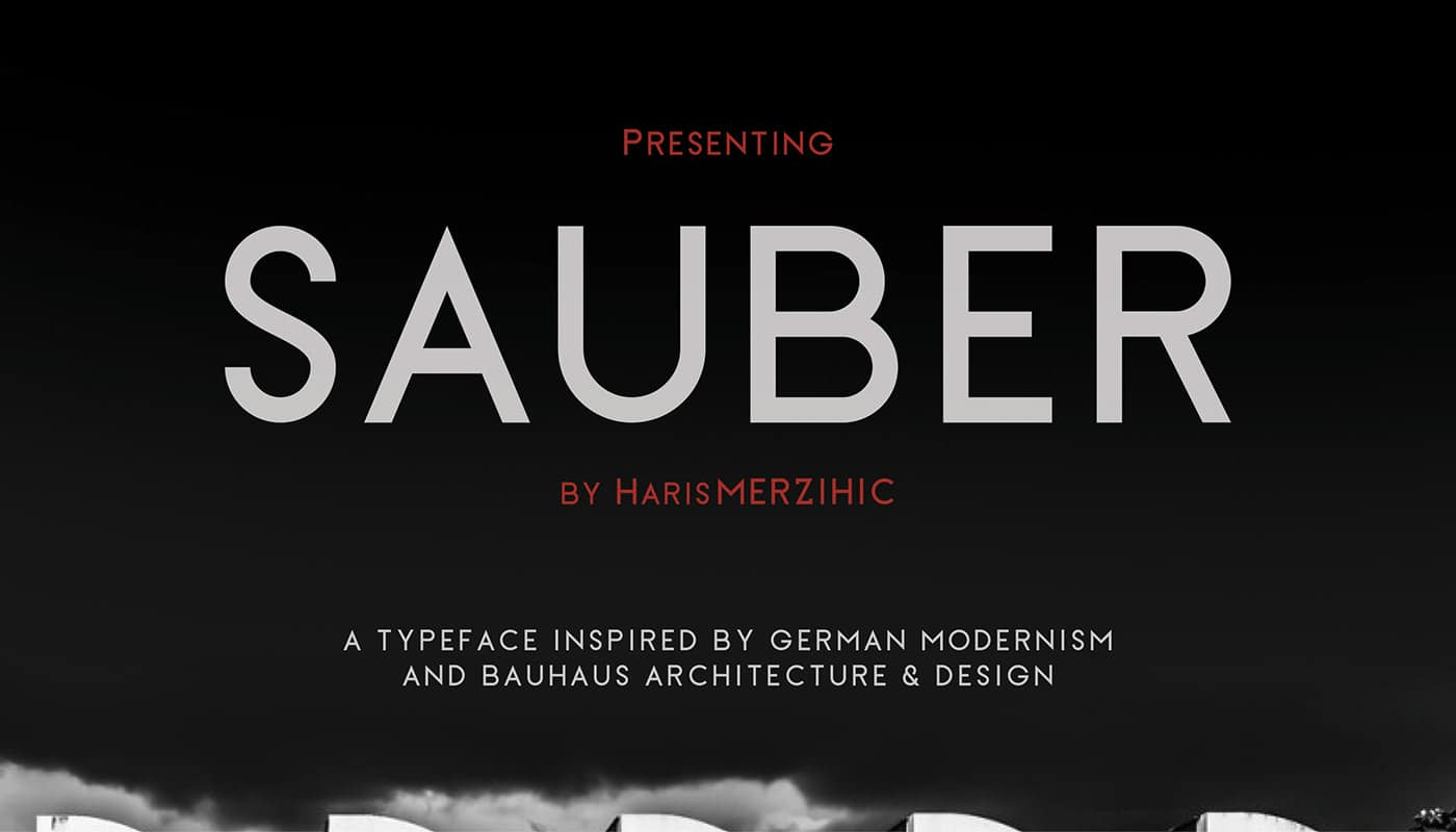 Sauber шрифт скачать бесплатно